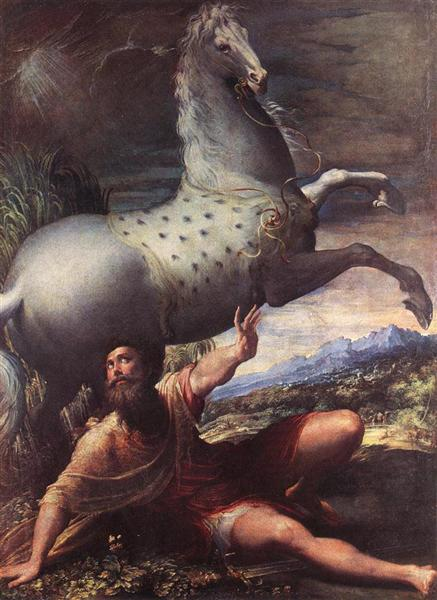 The Conversion Of St Paul, 1527 - 1528 - Parmigianino