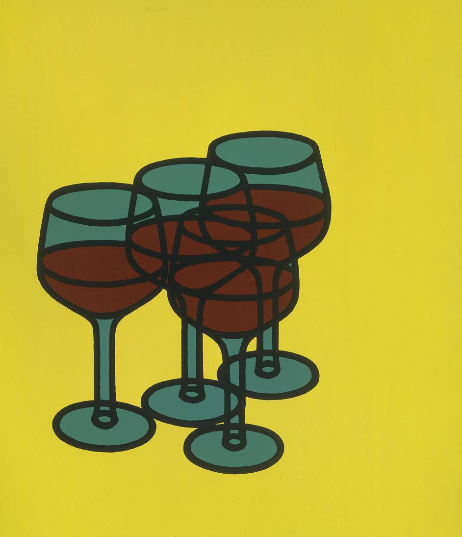 Patrick Caulfield Wine Glasses Patrick Caulfield WikiArtorg