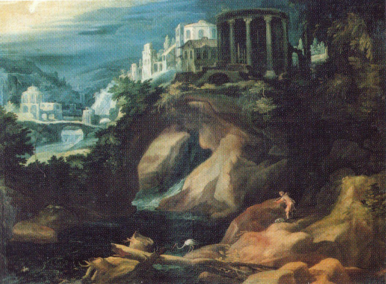 Landschaft mit Sibyllentempel, 1595