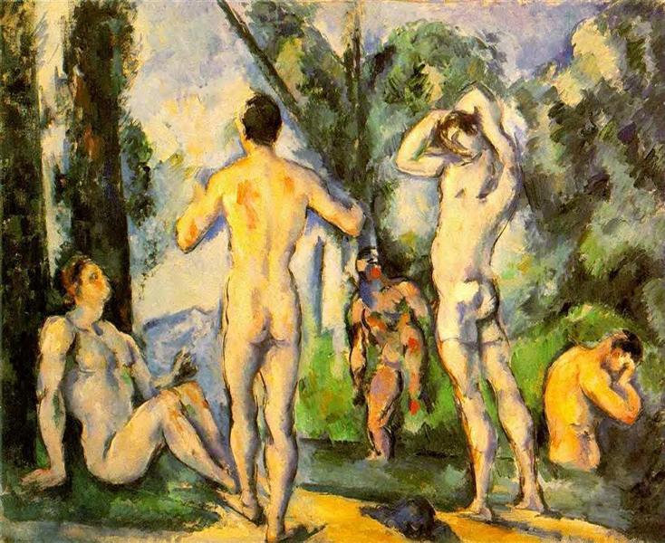 Bathers, 1891 - Paul Cezanne