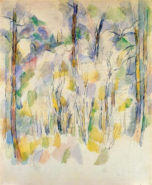 In the Woods, c.1900 - Поль Сезанн