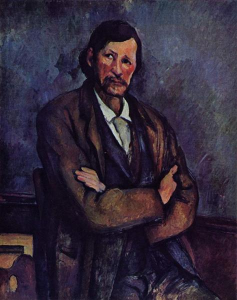 Man with Crossed Arms, c.1900 - Paul Cezanne