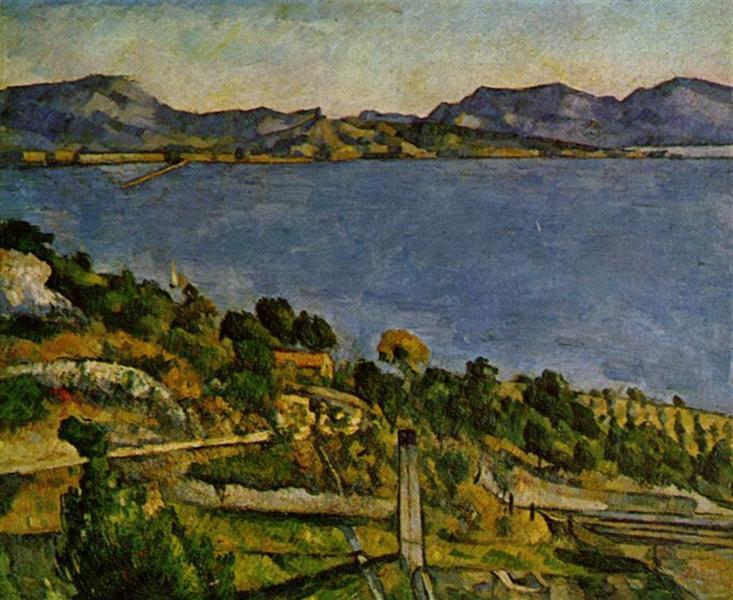Sea at L'Estaque - Cezanne Paul