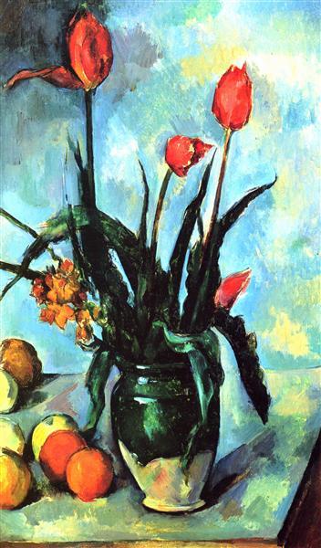 Tulips in a Vase, 1892 - Paul Cezanne