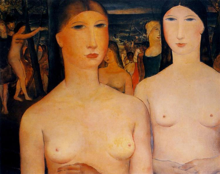 Girls by the sea, 1928 - Paul Delvaux