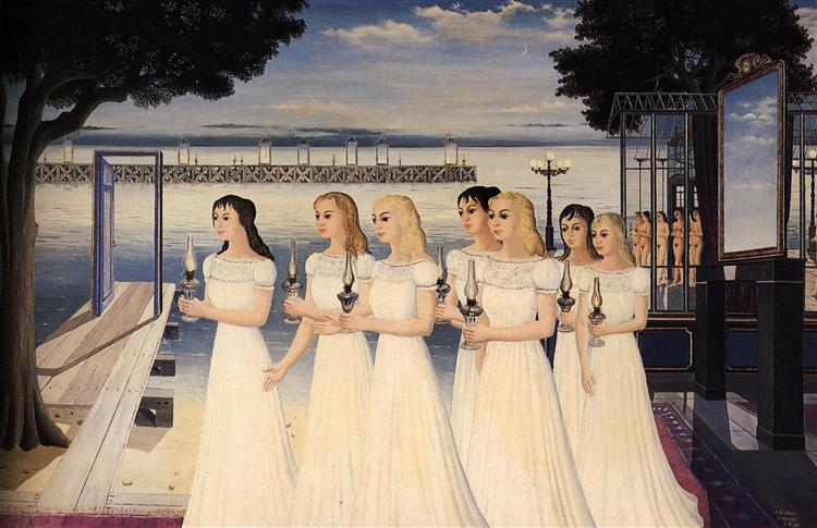 The Wise Virgins, 1965 - Paul Delvaux