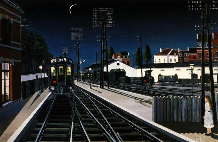 Train in Evening, 1957 - Paul Delvaux