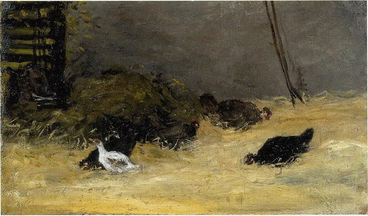 Chicken Coop - Gauguin Paul