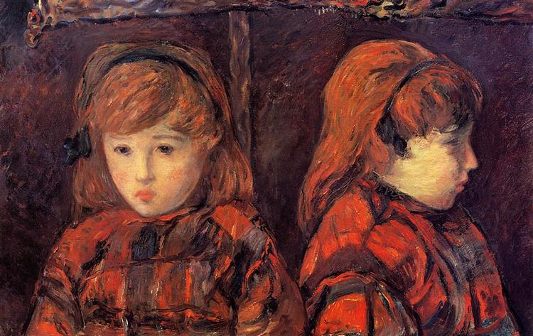 Двойной портрет девочки (Мадемуазль Лафит), 1883 - Поль Гоген
