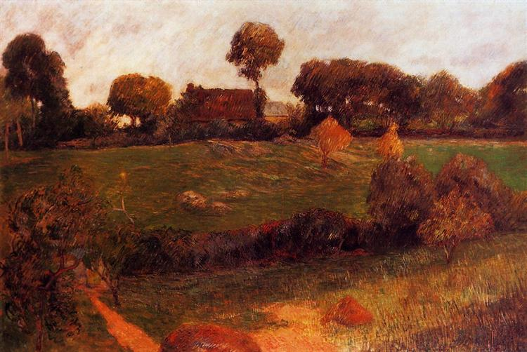 Farm in Brittany, 1886 - Paul Gauguin
