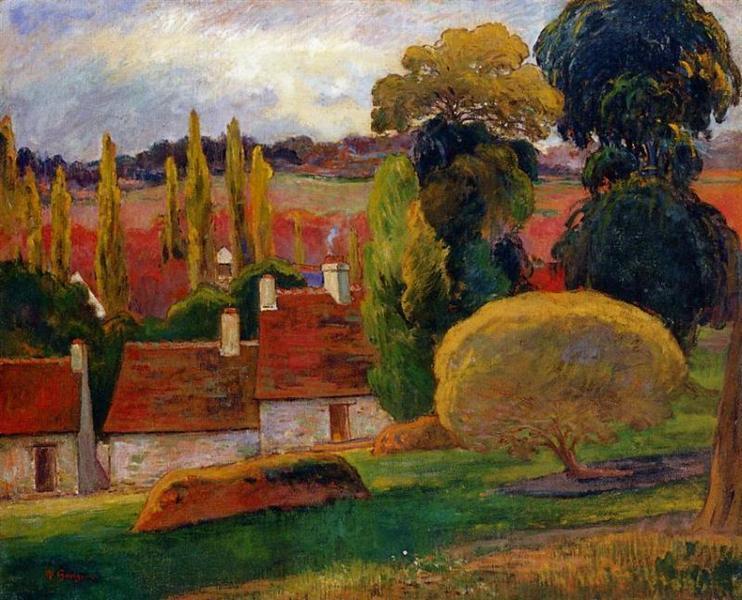 Farm in Brittany, 1894 - Paul Gauguin