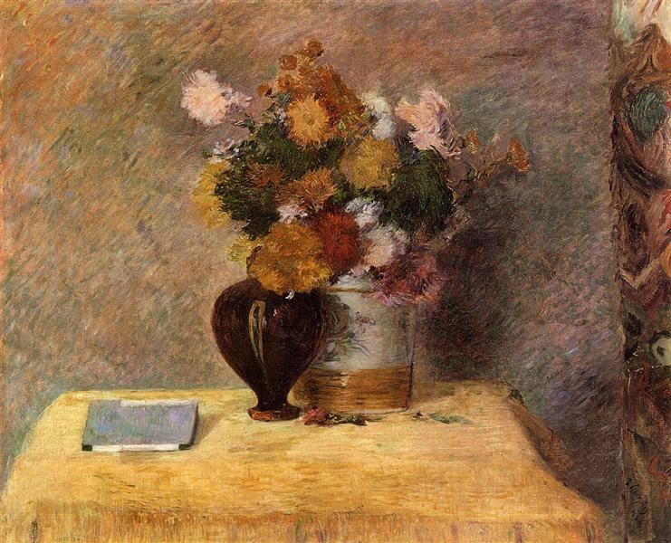 Flowers and Japanese book, 1882 - Paul Gauguin
