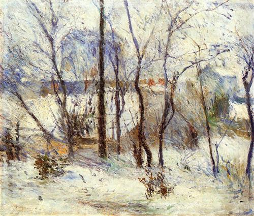 Garden under Snow - Paul Gauguin