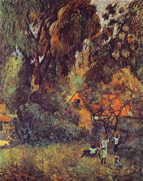 Huts under Trees, 1887 - Paul Gauguin