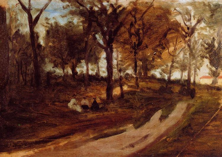 In the forest Saint Cloud - Paul Gauguin