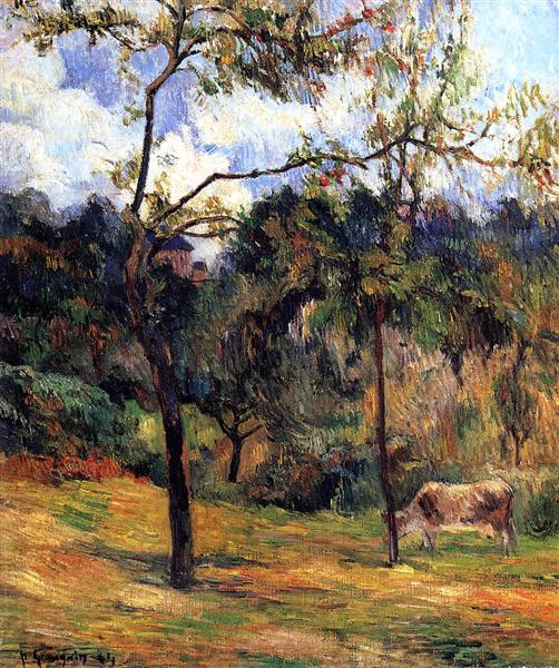 Normandy Landscape: Cow in a Meadow, 1884 - Paul Gauguin