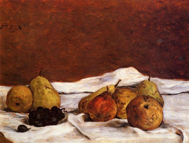 Pears and grapes, 1875 - Paul Gauguin