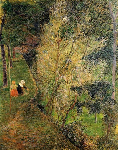 Pont-Aven woman and child, 1886 - Paul Gauguin