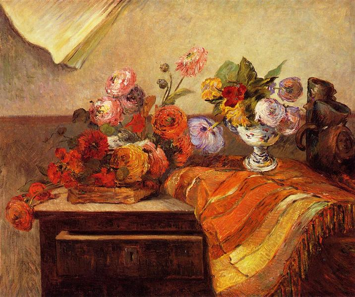 Pots and Boquets, 1886 - Paul Gauguin