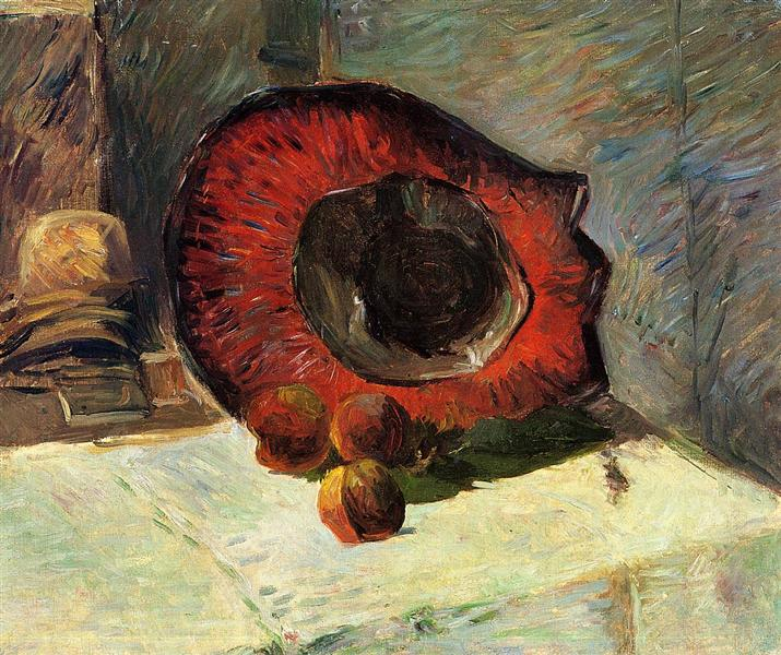 Red hat, 1886 - Paul Gauguin