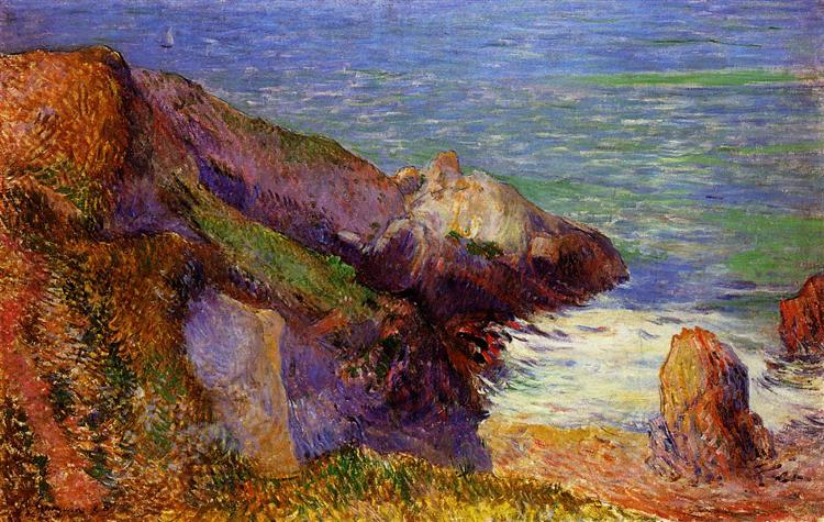 Rocks on the breton coast, 1888 - Paul Gauguin
