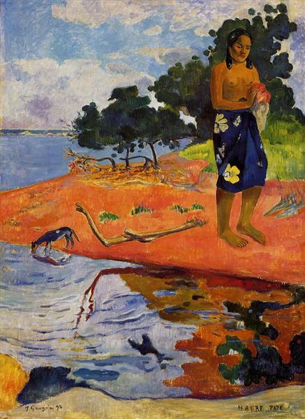 She goes down to the fresh water (Haere Pape), 1892 - Paul Gauguin