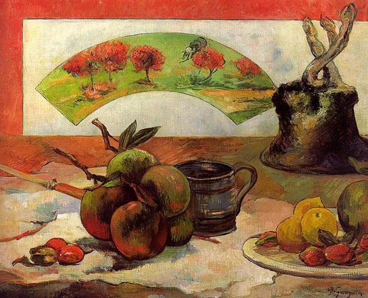Still Life with a Fan, c.1889 - Paul Gauguin