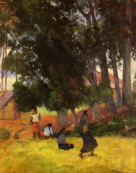 Tahitian village, 1892 - Paul Gauguin