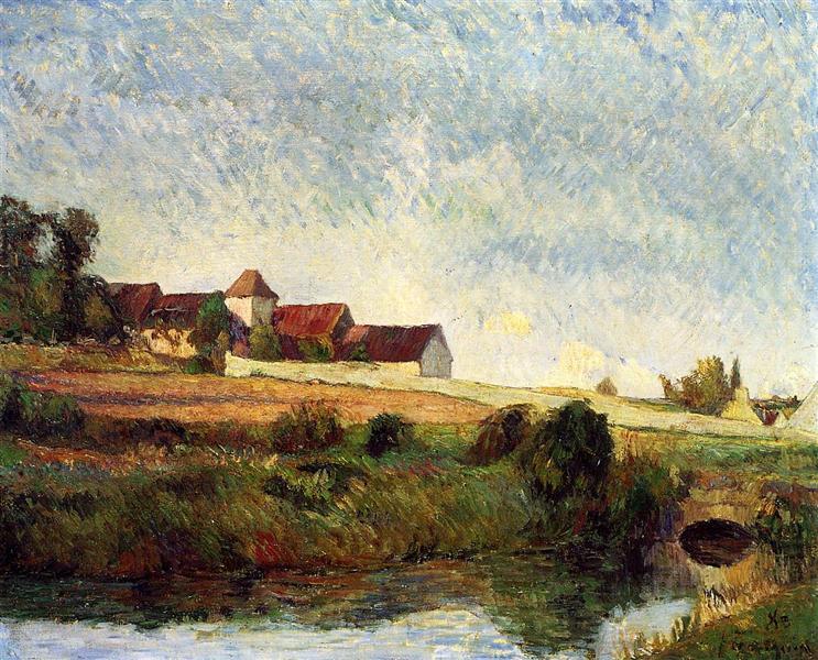 The farm in Grue, 1883 - Paul Gauguin