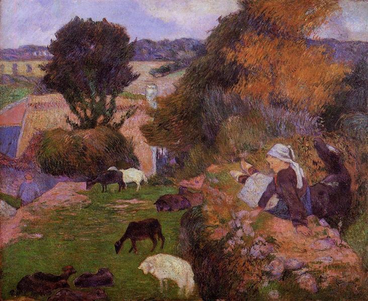 Willows, 1889 - Paul Gauguin
