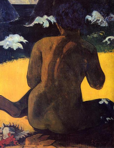 Woman by the sea, 1892 - Paul Gauguin