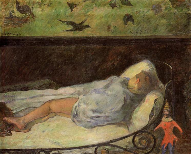 Young Girl Dreaming (Study of a Child Asleep), 1881 - Paul Gauguin
