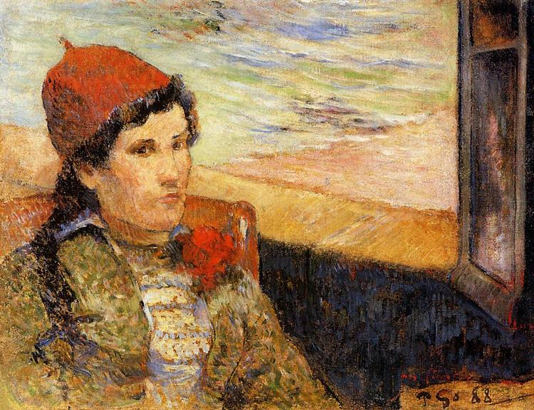 Young woman at the window, 1888 - Paul Gauguin