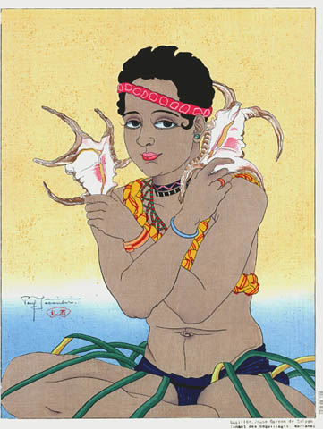 Basilio, Jeune Garcon de Saipan Tenat Des Coquillages. Marianes, 1934