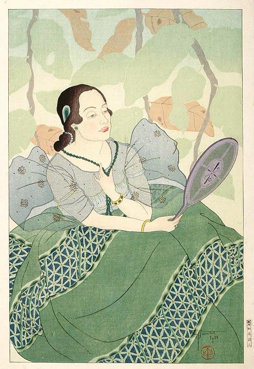Portrait of a Chamorro Woman - Green, 1934