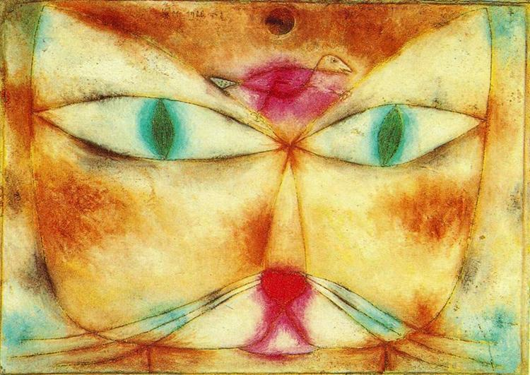 Cat and Bird - Klee Paul