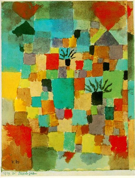 Southern (Tunisian) gardens, 1919 - Paul Klee