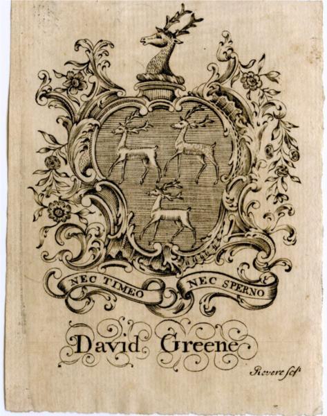 David Greene Bookplate - Paul Revere