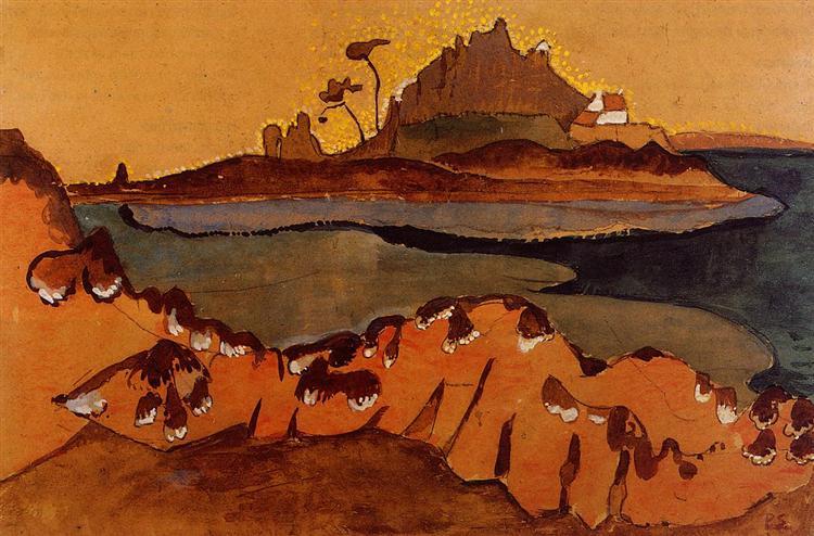 The Ile de la Douane, the Mouthe of the Trieux River, 1892 - Paul Serusier