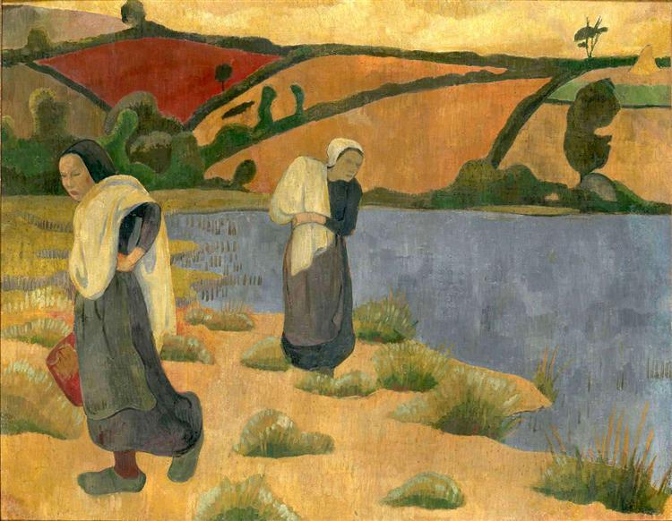 Washerwomen at the Laita River, near Pouldu, 1892 - Paul Serusier
