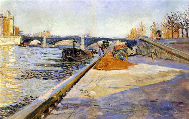 Paris, Quai de la Tournelle, 1886 - Paul Signac