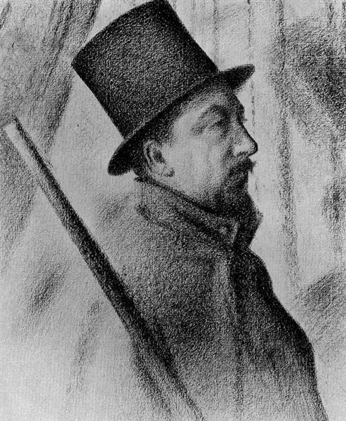 Portrait of Conté, 1890 - Paul Signac