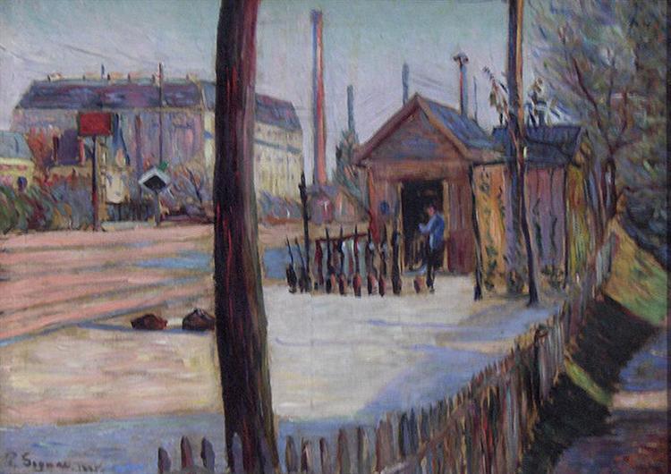 Railway junction near Bois Colombes, 1885 - 1886 - Paul Signac