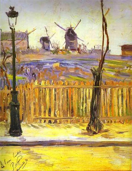 Rue Caulaincourt. Mills on Montmarte, 1884 - Paul Signac