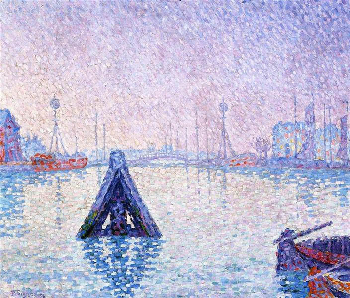 The Port at Vlissingen, Boats and Lighthouses, 1896 - Paul Signac