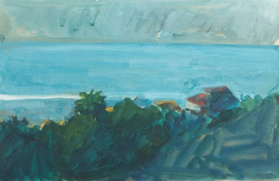 View of the Sea from Malibu, 1965 - Paul Wonner