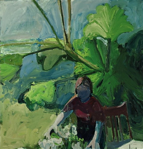 Woman with Flowers, 1961 - Paul Wonner