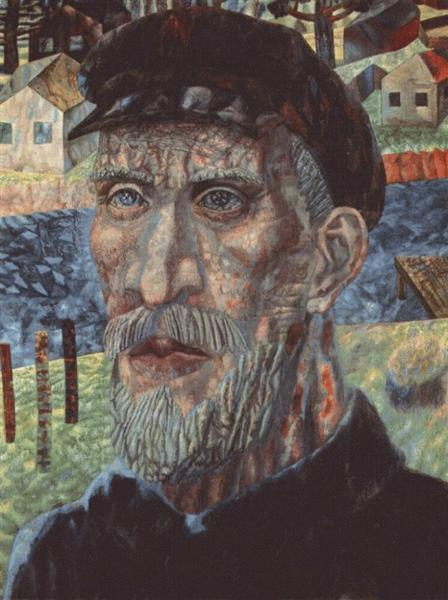 The Kolkhoznik (Member of a Collective Farm), 1931 - Pavel Filonov