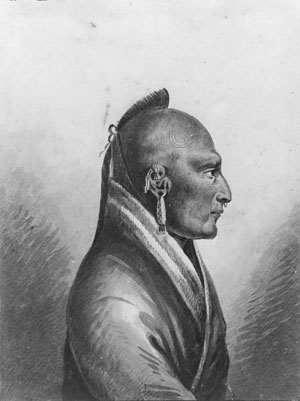 The Chief of the Little Osages, c.1812 - Pavel Svinyin
