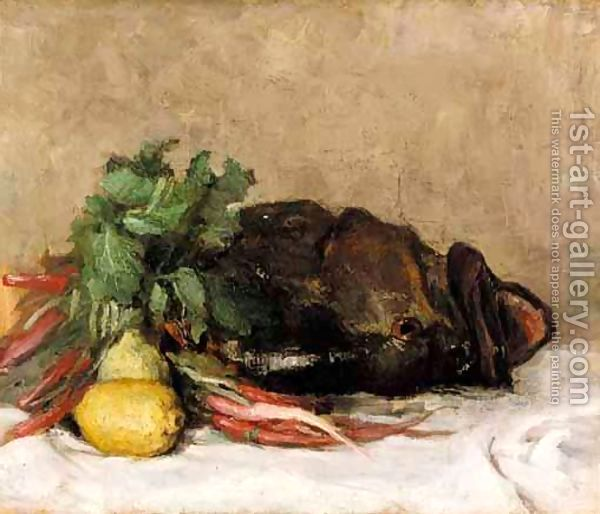 Still Life With Fish And Vegetables - Pericles Pantazis